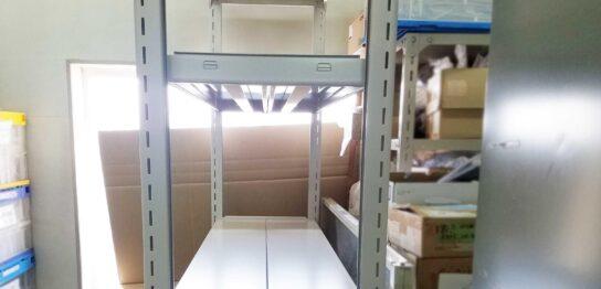 中量500kg/段スチールラック設置事例